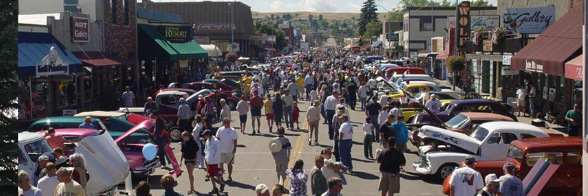 Car show in Polson Montana