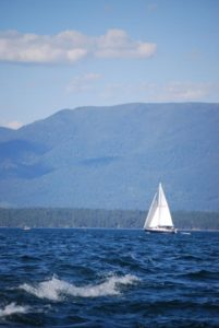Sailboat on Flathead Lake